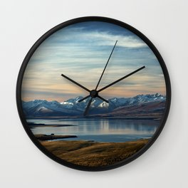 Calm Mountains Wall Clock