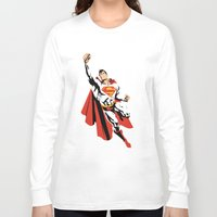 dc Long Sleeve T-shirts featuring DC - Superman by TracingHorses