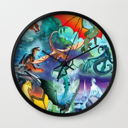 Wings of fire dragon Wall Clock