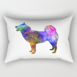 Greenland Dog in watercolor Rectangular Pillow