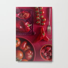 Red - the colors of food Metal Print