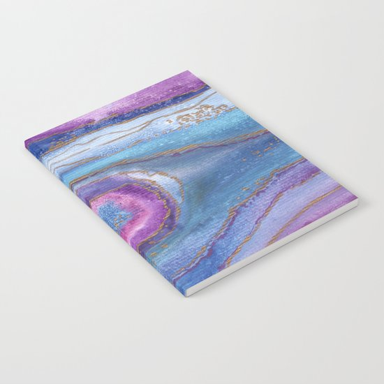 AGATE Inspired Watercolor Abstract 05 Notebook