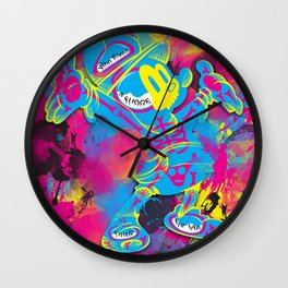 Dipopai - Look on up - Pink Wall Clock