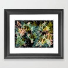 PALM COLLAGE Framed Art Print
