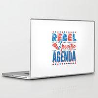 rebel Laptop & iPad Skins featuring Rebel by Word Quirk