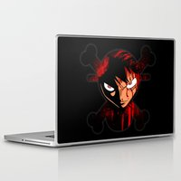 luffy Laptop & iPad Skins featuring BLOODY LUFFY by feimyconcepts05