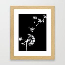 Dandelion 2 Drawing Framed Art Print