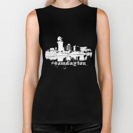 I Am Dayton - Castle City - White Biker Tank
