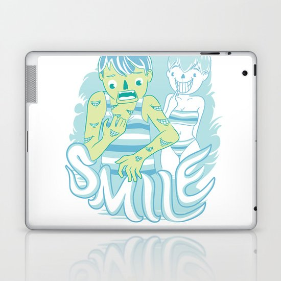 Smile It's contagious :D Laptop & iPad Skin