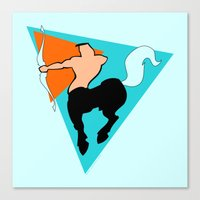 sagittarius Canvas Prints featuring Sagittarius by tuditees