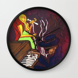 Gumbo night 18 Wall Clock