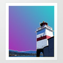 Brockton Point Lighthouse Gradient Art Print