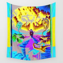 Trippy Psychedelic Surreal Visionary Art by VIncent Monaco - The Battlesoul Wall Tapestry