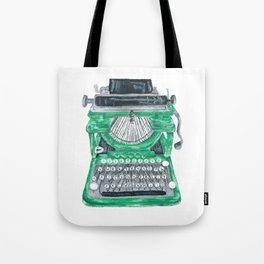 Green Typewriter Tote Bag