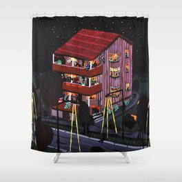 house party Shower Curtain