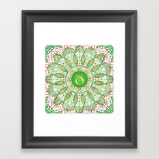 Zodiac Sign Taurus Mandala Framed Art Print