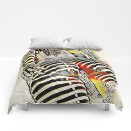 1457s-AK Powerful Nude Woman Kandinsky Style Rear View by Chris Maher Comforters