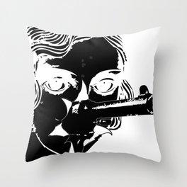 she shots shits Throw Pillow