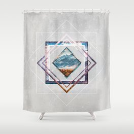 Refreshing heat Shower Curtain
