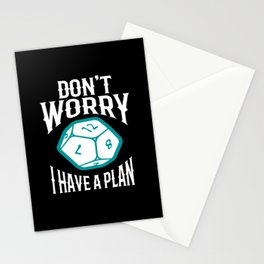 Dont Worry I Have A Plan Stationery Cards