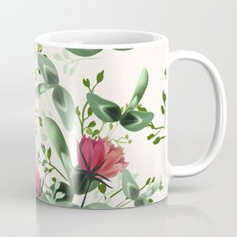 Fashion textile floral vector pattern with rustic clover flowers Coffee Mug