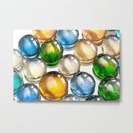 Glass balls marbles abstract Metal Print