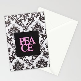 peace in black and white Stationery Cards