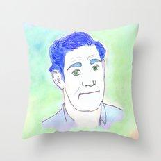 Jim Halpert Face.  Throw Pillow