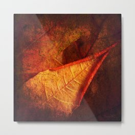 Cycle II Autumn Seasonal Modern ART Design  Metal Print