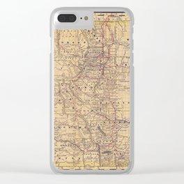 Colorado Vintage Map Clear iPhone Case