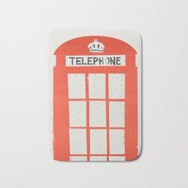 Red London Telephone Box Bath Mat