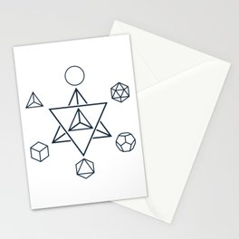 Merkaba and the Platonic Solids, Sacred Geometry Stationery Cards