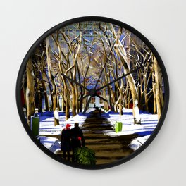 Bryant Park before Christmas Wall Clock