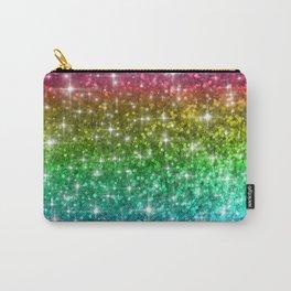 Rainbow Glitter Sparkles Carry-All Pouch