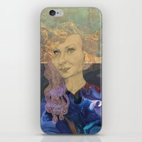 tina crespo iPhone & iPod Skins featuring Tina by Nina Schulze Illustration