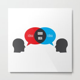 Idea+Idea=Good Idea Metal Print
