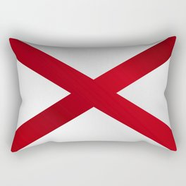 Alabama Sate Flag Gloss Rectangular Pillow