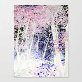 Pink blossomed Trees. Canvas Print