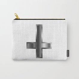 An inverted cross- The Cross of Saint Peter used as an anti-Christian and Satanist symbol Carry-All Pouch