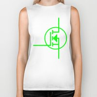 transistor Biker Tanks featuring N-TYPE MOSFET by EEShirts