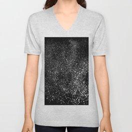 Black Night Glitter #1 #shiny #decor #art #society6 Unisex V-Neck