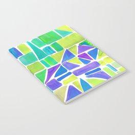 Watercolour Shapes Lemon Notebook