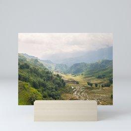 ricefields in northern Vietnam Mini Art Print