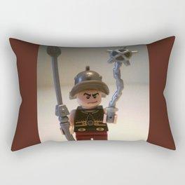 Gladiator 'Cracalla the Gladiator' LEGO Custom Minifigure by Chillee Wilson Rectangular Pillow