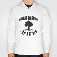 israel Hoodies featuring Israel Defense Forces - Golani Warrior by crouchingpixel