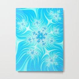Christmas Stars And Snowflakes Metal Print