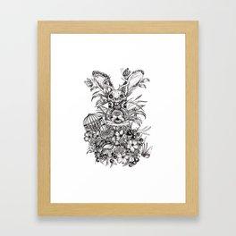 Rabbit Theif Framed Art Print