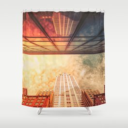 New York City Chrysler Building Up Up and Away Shower Curtain