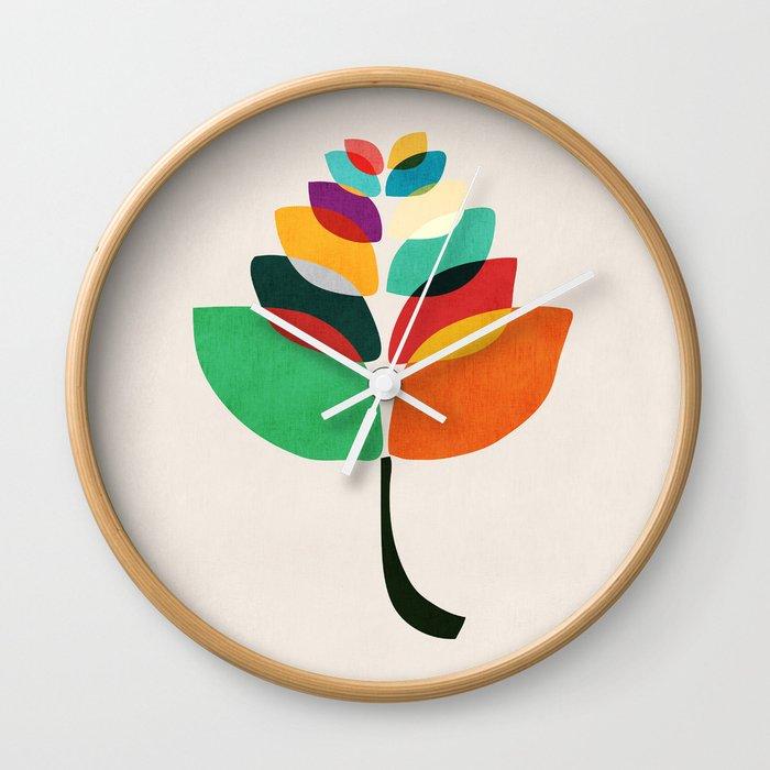 Lotus Flower Wall Clock By Budikwan Society6