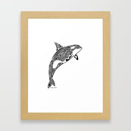 Tribal Orca Framed Art Print